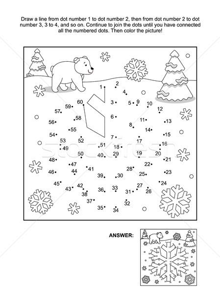 Página copo de nieve invierno año nuevo Navidad contactar Foto stock © ratselmeister