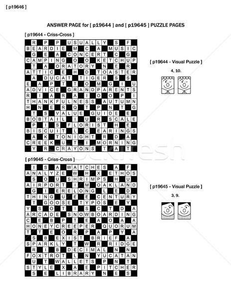 Answer page to puzzle pages p19644 and p19645 Stock photo © ratselmeister