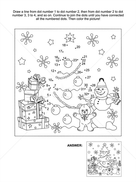 Dot-to-dot activity page Stock photo © ratselmeister