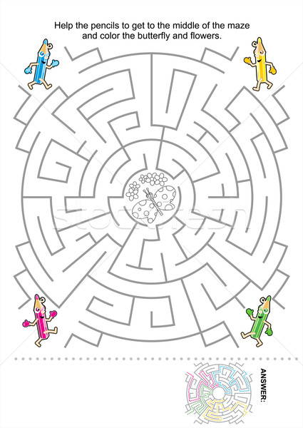 Maze game for kids Stock photo © ratselmeister