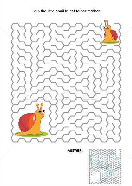 Labirinto jogo crianças atividade página ajudar Foto stock © ratselmeister