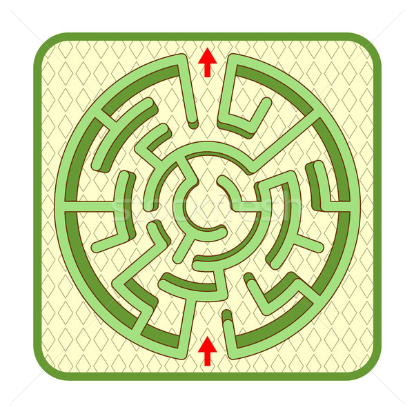 3D labyrinthe haut vue cercle Photo stock © ratselmeister
