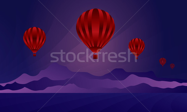Air balloon in the night sky Stock photo © Ray_of_Light