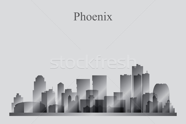 Phoenix silhouet gebouw skyline architectuur Stockfoto © Ray_of_Light