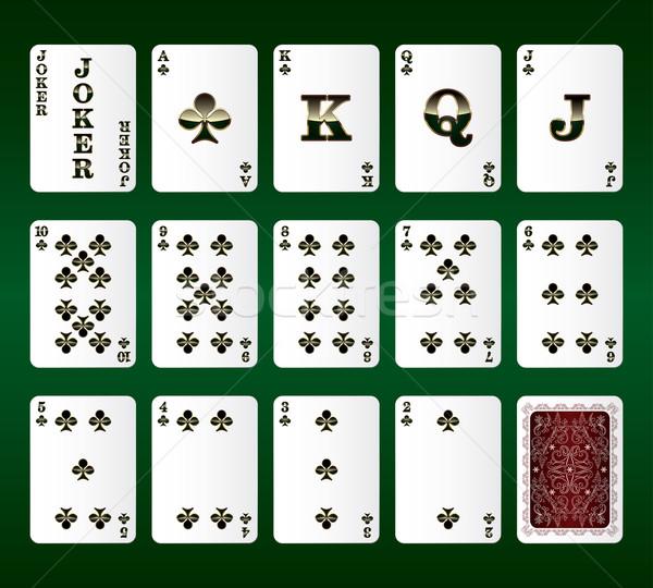 Stock fotó: Kártyapakli · vektor · összes · szett · arc · jókedv