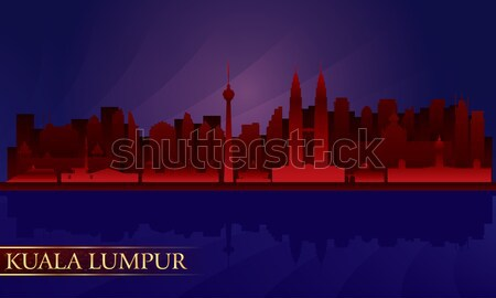 Beijing night city skyline     Stock photo © Ray_of_Light