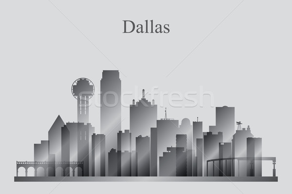 Dallas silhouet gebouw skyline architectuur Stockfoto © Ray_of_Light