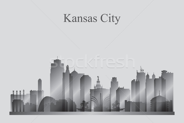 Kansas silhouette bâtiment Skyline architecture Photo stock © Ray_of_Light