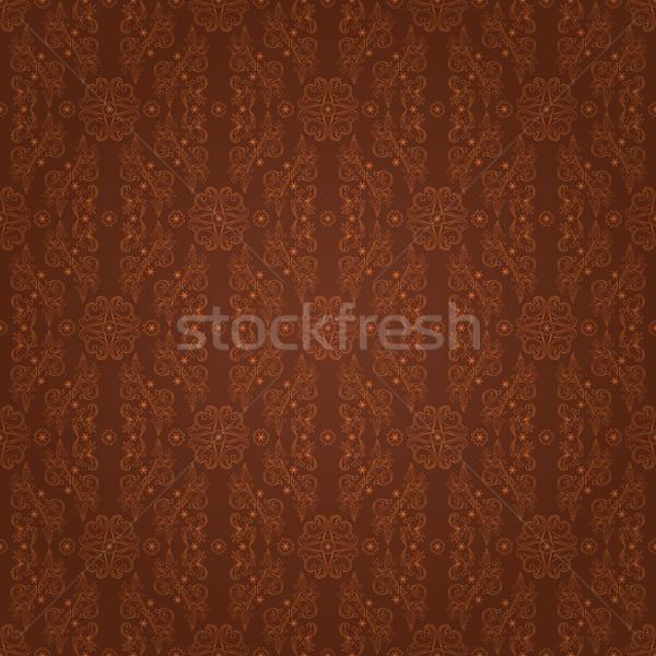Arany virágmintás klasszikus végtelen minta textúra divat Stock fotó © Ray_of_Light