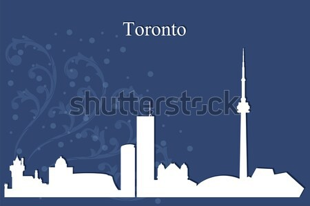 Dubai city skyline silhouette on blue background Stock photo © Ray_of_Light