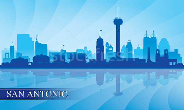 San Antonio city skyline silhouette background Stock photo © Ray_of_Light