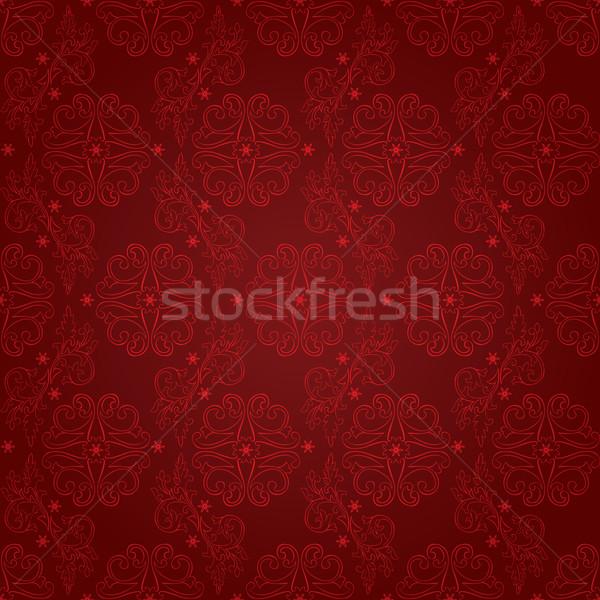 Vintage floral vermelho vetor flor Foto stock © Ray_of_Light