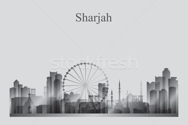 силуэта пустыне путешествия Skyline архитектура Сток-фото © Ray_of_Light