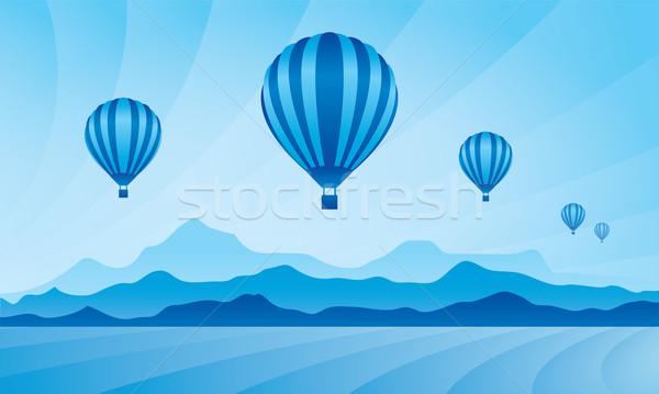 Globo cielo vector horizonte ilustración fondo Foto stock © Ray_of_Light