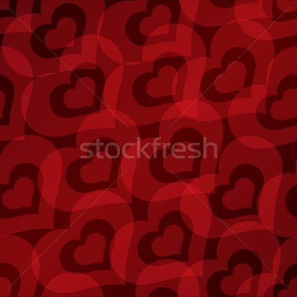 Valentin nap szívek végtelen minta szeretet terv felirat Stock fotó © Ray_of_Light