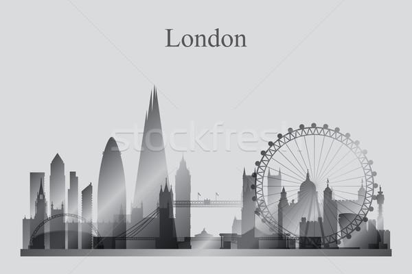 Photo stock: Londres · silhouette · bâtiment · Voyage · Skyline