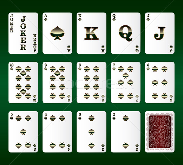 Playing cards vector. All the Spades Stock photo © Ray_of_Light