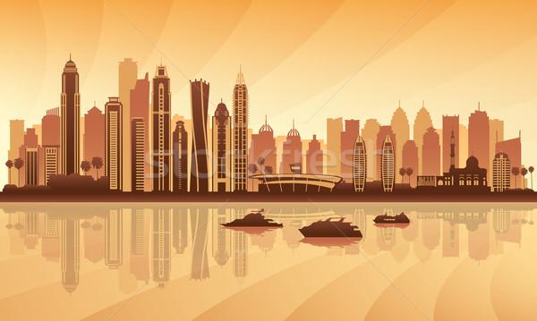 Dubai marina silhueta edifício viajar Foto stock © Ray_of_Light