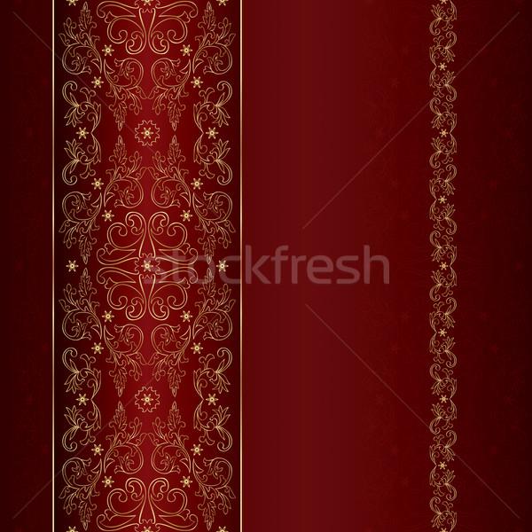 красный золото цветочный Vintage вектора Сток-фото © Ray_of_Light