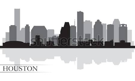 Хьюстон силуэта прибыль на акцию 10 небе Сток-фото © Ray_of_Light
