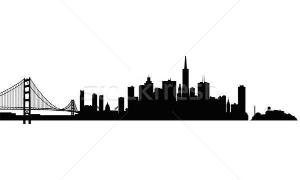 San Francisco city skyline silhouette background Stock photo © Ray_of_Light
