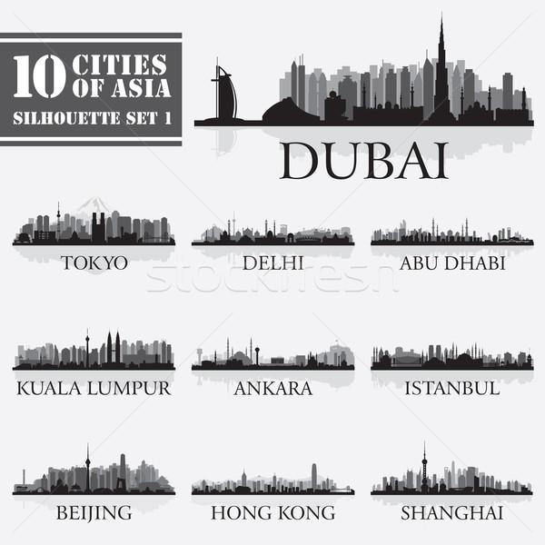 Сток-фото: набор · Skyline · 10 · Азии