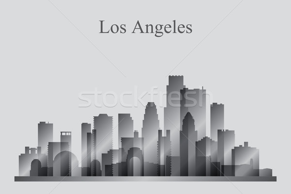Los Angeles silhueta edifício linha do horizonte arquitetura Foto stock © Ray_of_Light