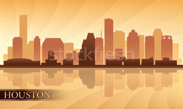 Houston városkép sziluett eps 10 épület Stock fotó © Ray_of_Light
