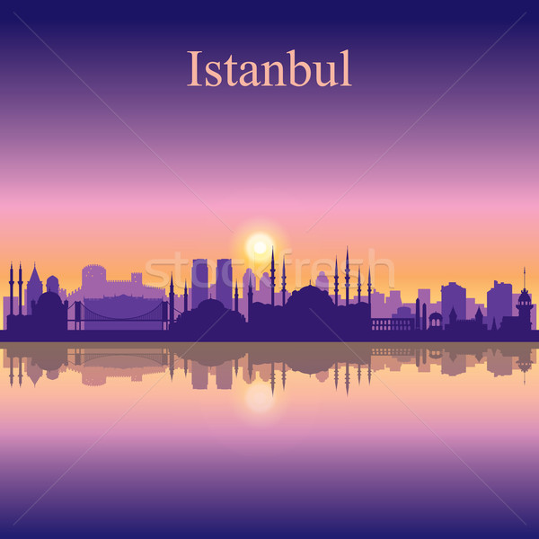 Istanbul silhouette ciel bâtiment Voyage Photo stock © Ray_of_Light