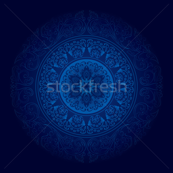 Kék klasszikus virágmintás virág absztrakt természet Stock fotó © Ray_of_Light