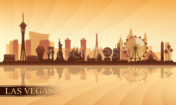 Las Vegas city skyline silhouette background Stock photo © Ray_of_Light