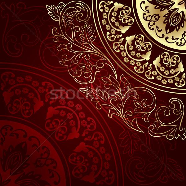 ヴィンテージ フローラル 花 抽象的な 自然 デザイン ストックフォト © Ray_of_Light