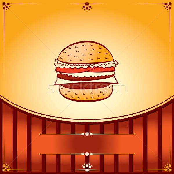 Caliente hamburguesa vector gráfico ilustración lugar Foto stock © Ray_of_Light