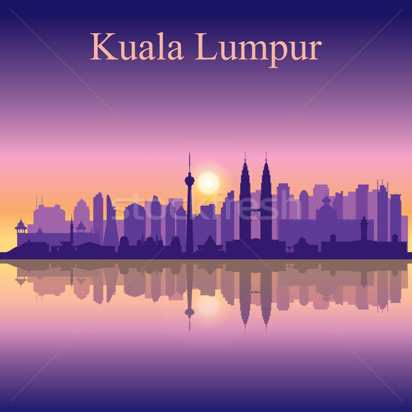Kuala Lumpur silhouette affaires Voyage sunrise Photo stock © Ray_of_Light