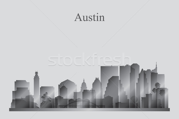 Austin silueta cielo edificio horizonte Foto stock © Ray_of_Light