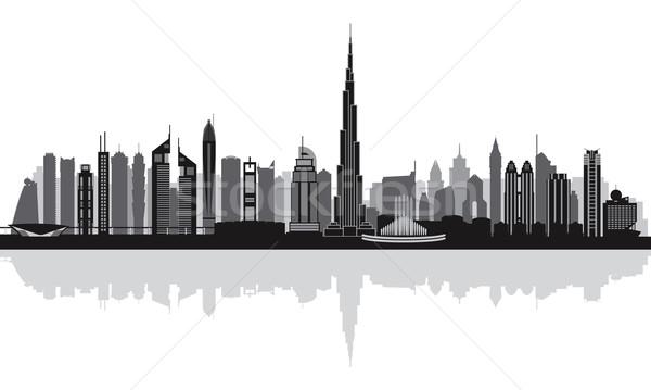 Dubai belváros városkép sziluett épület utazás Stock fotó © Ray_of_Light