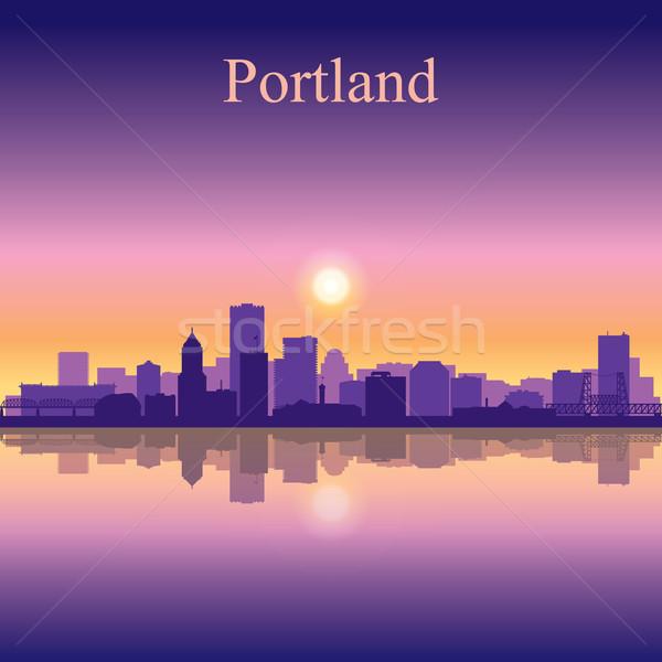 силуэта здании закат Восход Skyline Сток-фото © Ray_of_Light