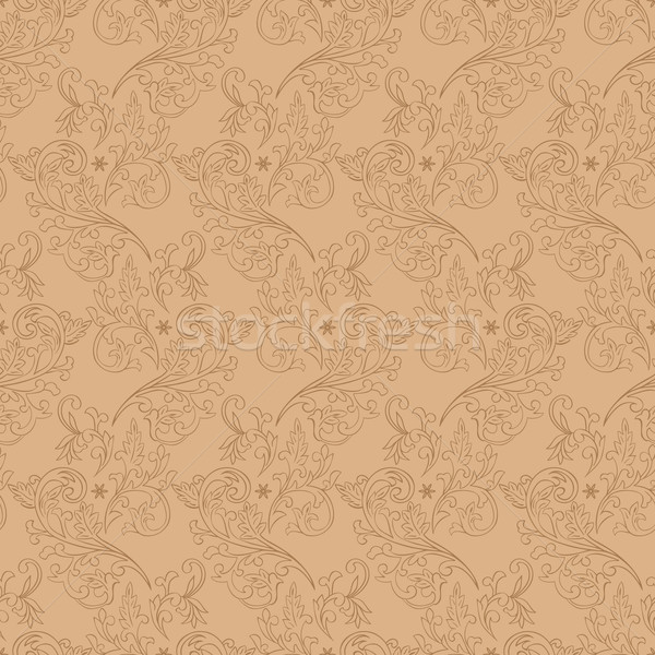 Vintage floral seamless pattern on beige Stock photo © Ray_of_Light