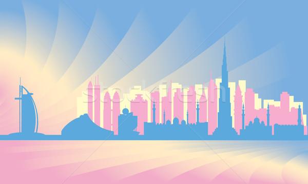 Dubai city skyline      Stock photo © Ray_of_Light