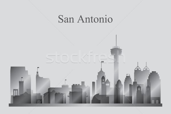Városkép sziluett épület utazás sziluett építészet Stock fotó © Ray_of_Light