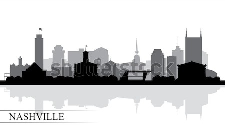 New Orleans city skyline silhouette background Stock photo © Ray_of_Light
