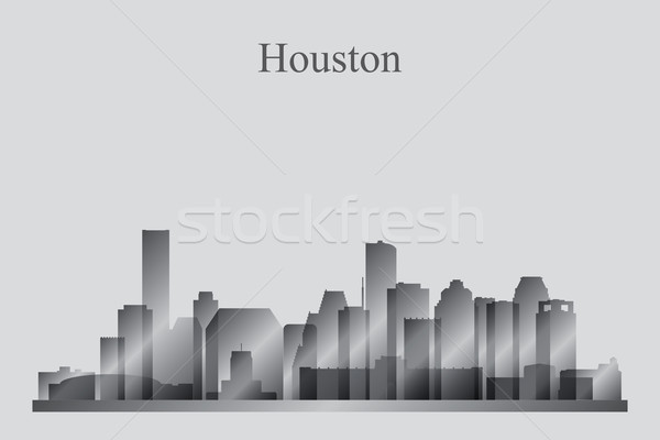 Houston silhouette bâtiment Skyline architecture Photo stock © Ray_of_Light