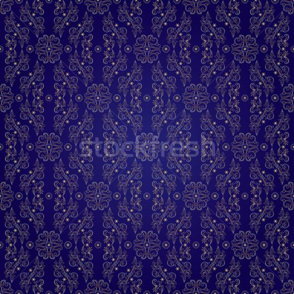 フローラル ヴィンテージ バイオレット 花 抽象的な ストックフォト © Ray_of_Light