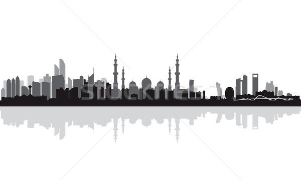Абу-Даби силуэта небе здании путешествия Сток-фото © Ray_of_Light