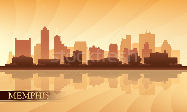 Memphis city skyline silhouette background Stock photo © Ray_of_Light