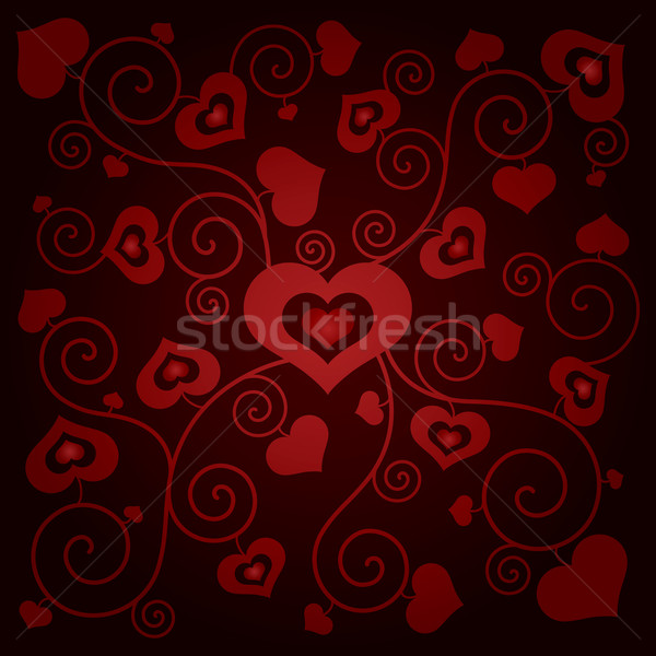 Valentine's day background with hearts Stock photo © Ray_of_Light