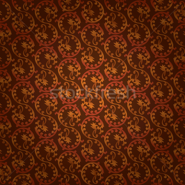 Brown vintage floral seamless pattern Stock photo © Ray_of_Light