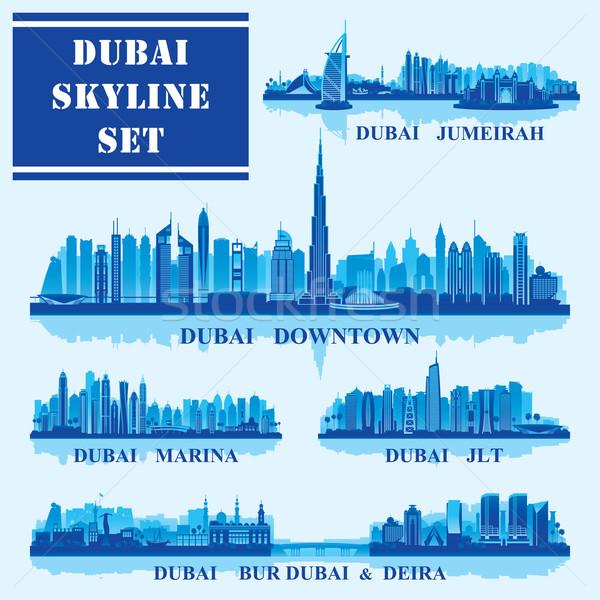 Set of Dubai districts Stock photo © Ray_of_Light