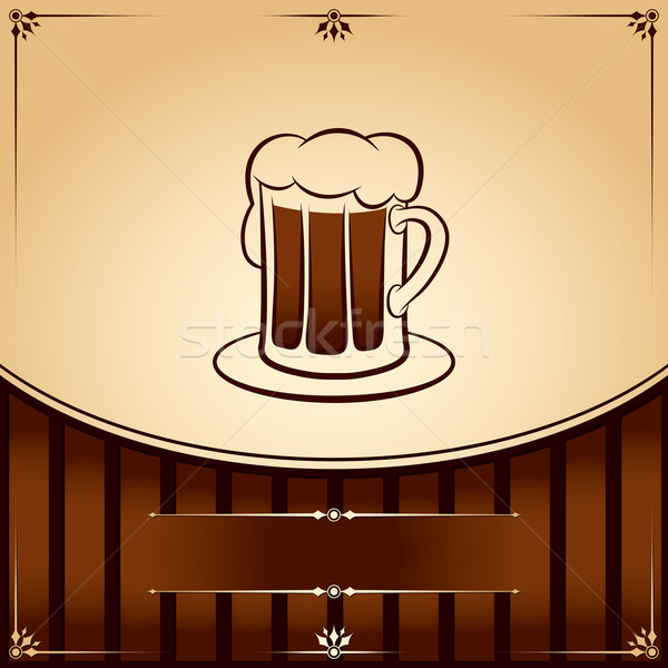 Beer tankard. vector graphic Illustration with place for text Stock photo © Ray_of_Light