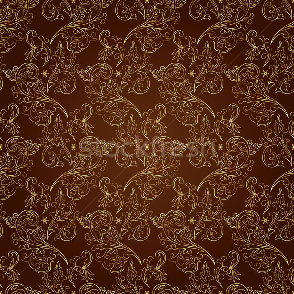 Vintage bruin bloem abstract Stockfoto © Ray_of_Light